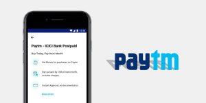Paytm-ICICI Bank Postpaid